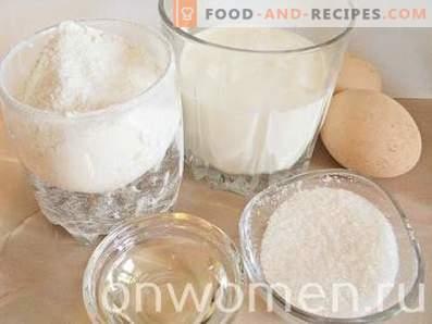 Palatschinken mit Milch