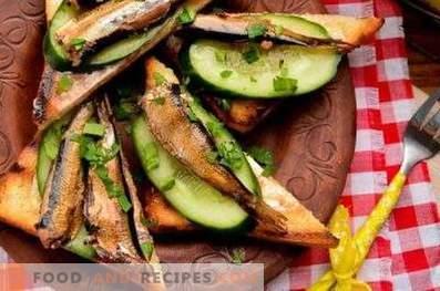 Sprotten-Sandwiches