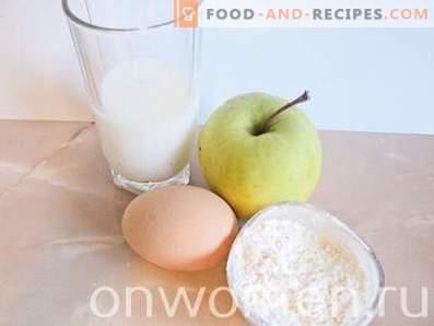 Apfelpfannkuchen mit Milch