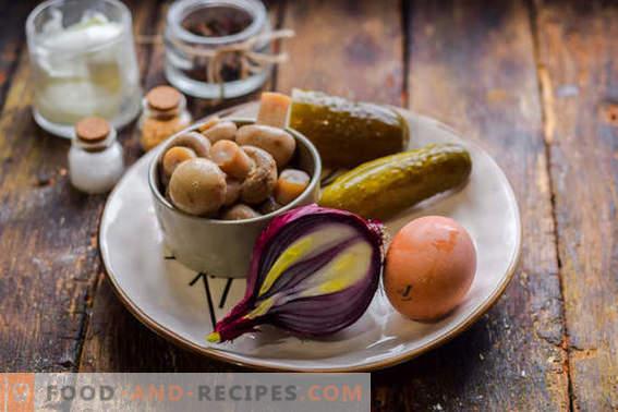 Toller Salat mit eingelegten Champignons in 15 Minuten.