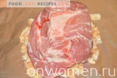 In Zwiebeln gebackener Schweinehals