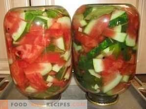Salzige Wassermelonen für den Winter in Banken