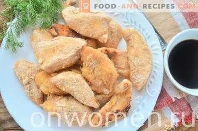 Hähnchenbrust in Paniermehl gebacken