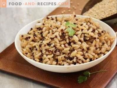Wie man braunen Reis zum Garnieren kocht