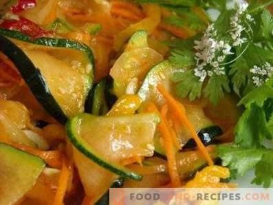 Koreanische Zucchini für den Winter