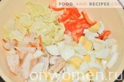 Eiweißsalat mit geschlagenem Gemüse