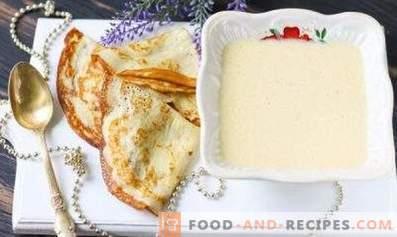 Dough for pancakes on kefir