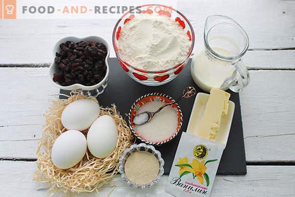Echter Hefekuchen mit Rosinen in einem Brotbackautomaten nach den Rezepten unserer Großmütter