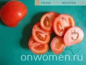 Tomaten mit Käse, Knoblauch und Mayonnaise