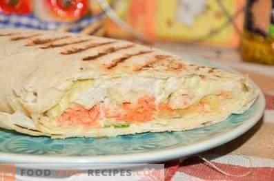 Shawarma mit Hühnchen und Gemüse