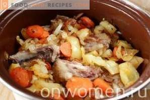 Schweinerippchen mit Gemüse