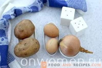 Kartoffeln gebraten mit Zwiebeln, Knoblauch und Eiern