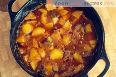 Rindfleisch mit Kartoffeln gedünstet
