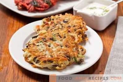 Kartoffelpuffer mit Pilzen