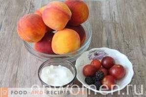 Pfirsiche in Sirup für den Winter