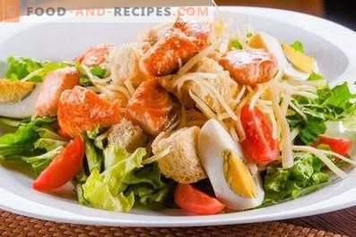 Cäsarsalat mit Lachs