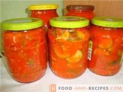Kürbis in Tomatensauce für den Winter