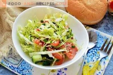 Frische Kohlsalate