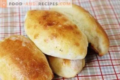 Pastetchen mit Hefeteigpflaumen im Ofen