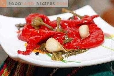 Paprika auf Armenisch für den Winter
