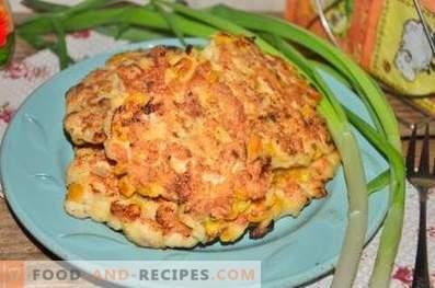Gehackte Hähnchenfleisch-Pastetchen mit Mais