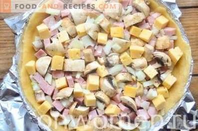Kish Loren met ham en kaas