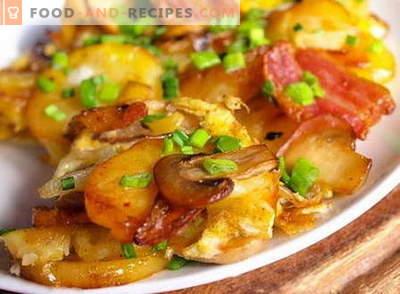 Kartoffeln mit Pilzen - die besten Rezepte. Wie man richtig und lecker Kartoffeln mit Pilzen kocht.