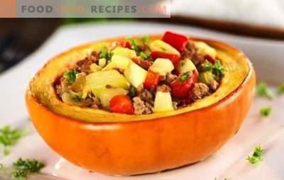 Kürbis gefüllt mit Fleisch, im Ofen gebacken - herrlich! Wie man einen mit Fleisch gefüllten Kürbis zubereitet und im Ofen backt