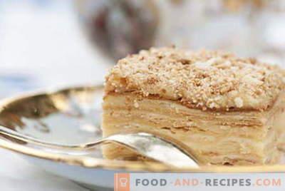 Napoleon-Kuchen - die besten Rezepte. Wie man Napoleon-Kuchen richtig kocht.