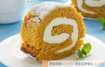 Backen mit Kürbis ist eine schmackhafte Art, eine reiche Ernte zu verwenden. Kürbisgebäck: Kuchen, Brötchen, Pfannkuchen, Brötchen, Kuchen