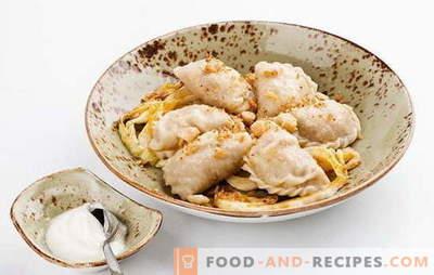 Knödel mit Kohl - eine lohnende Mahlzeit! Verschiedene Knödelrezepte mit Kraut und Kartoffeln, Speck, Pilzen, Fleisch, Leber