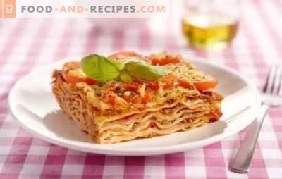Klassische Lasagne: Schritt für Schritt Rezepte für italienische Gerichte. Geheimnisse, Optionen und schrittweise Rezepte für die klassische Lasagne
