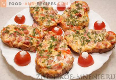 Heiße Sandwiches - ein Rezept mit Fotos und Schritt für Schritt Beschreibung.