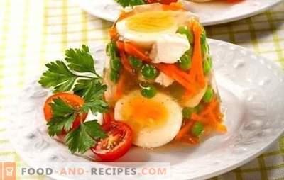 Hühnchenpastete mit Gelatine ist ein delikates Gericht für Urlaub und Alltag. Die besten Rezepte für geliertes Hühnchen mit Gelatine