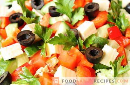 Salate ohne Mayonnaise sind die besten Rezepte. Wie man richtig und lecker Salate ohne Mayonnaise kocht.