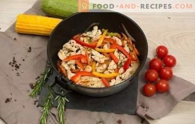 Frikassee mit Gemüse - eine Vielzahl von Zutaten und würzigen Aromen. Frikassee-Rezepte mit Gemüse: vegetarisch, Hähnchen, Fisch, mit Lamm oder Schweinefleisch.