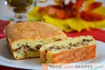 Pie mit Hackfleisch: Rezepte für Fleisch für Schritt für Schritt. Kochen Sie herzhafte und duftende Hackfleischpasteten mit Schritt-für-Schritt-Rezepten