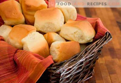 Hefebrötchen sind die besten Rezepte. Wie man richtig und lecker Brötchen aus Hefeteig zu Hause kocht