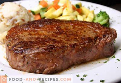 Beefsteak - die besten Rezepte. Wie man richtig und lecker kocht Steak Rindfleisch, gehackt und gehackt.