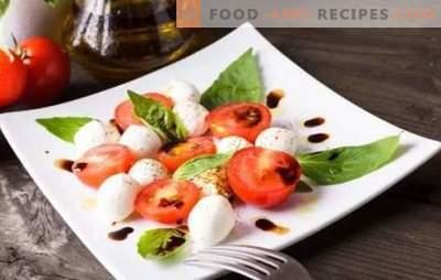 Italienische Vorspeisen - die Welt der harmonischen Kombinationen. Rezepte einfache und köstliche italienische Vorspeisen aus Käse, Auberginen, Tomaten, Fleisch und Huhn