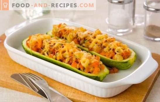 Einfache Zucchini-Gerichte - schnell und lecker! Köstliche gefüllte und gebratene Zucchini, schnelle Pfannkuchen und zarte Cremesuppe