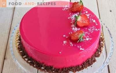 Mousse Cake ist wunderschön und unglaublich lecker! Rezepte für Mousse Cakes mit Spiegelglasur auf Kondensmilch, mit Kakao und Schokolade