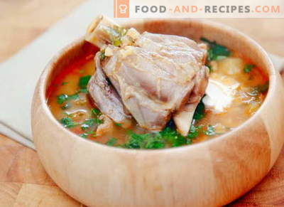 Hammelsuppe - die besten Rezepte. Wie man richtig und lecker Lammsuppe kocht.