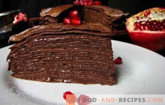 Schokoladenkuchen auf Kefir - heller Geschmack! Rezepte für leckere Kefir-Torten mit Butter, Vanillepudding und Buttercreme