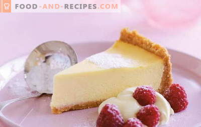 Käsekuchen mit Mascarpone - ein cremiger Käsekuchen. Rezepte für Vanille, Hüttenkäse, Erdbeer-Käsekuchen mit Mascarpone