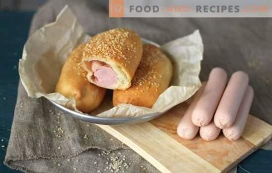 Würste im Teig, im Ofen oder in der Pfanne - ist das verlockend? Hauswurst im Teig: Hefe, Blätterteig, Kartoffel oder Teig
