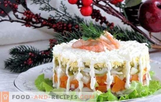 Eine Auswahl an Salaten mit Tintenfisch und Karotten - die Auswahl ist riesig! Rezepte Salat mit Tintenfisch und Karotten der verfügbaren Produkte