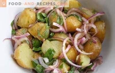 Kochen von Kartoffeln mit Zwiebeln im Ofen - auf Ukrainisch, Italienisch, Königlich und Bauern. Rezepte Kartoffeln mit Zwiebeln im Ofen