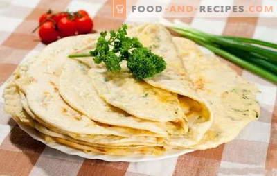 Wunder mit Fleisch - ohne Öl braten! Eine Auswahl an Rezeptenwunder mit Fleisch aus verschiedenen Teigarten in einer Pfanne und im Ofen: das Aroma des Kaukasus