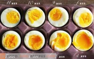 Wie man weich gekochte Eier, hart gekocht, in einer Tüte, pochiertes Ei kocht. Wie viel kocht man nach dem Kochen von Wasser